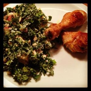 Grønkålssalat med kylling