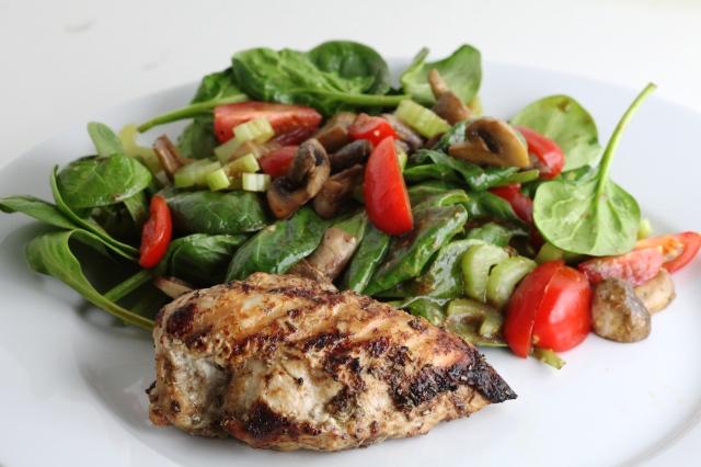 Kylling og salat