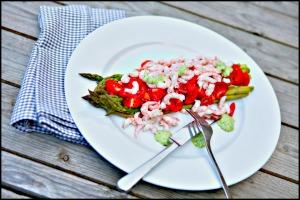 Rejer og asparges
